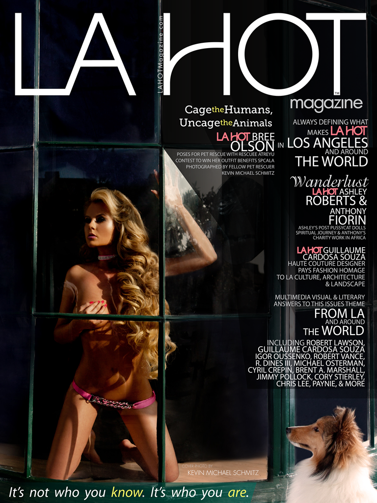 Cover of LA HOT Magazine Featuring Bree Olson